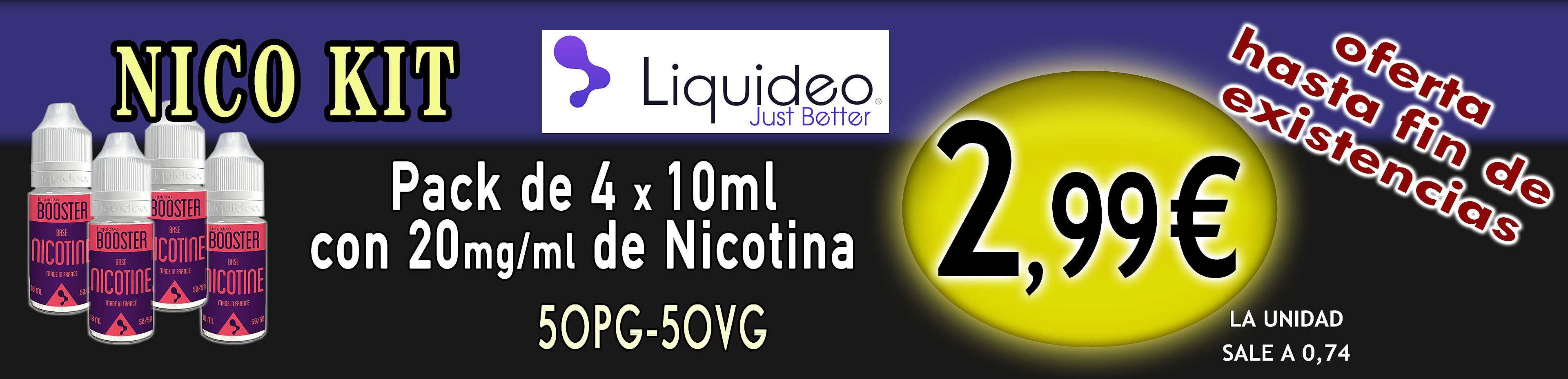 Oferta Pack nicokits Liquideo