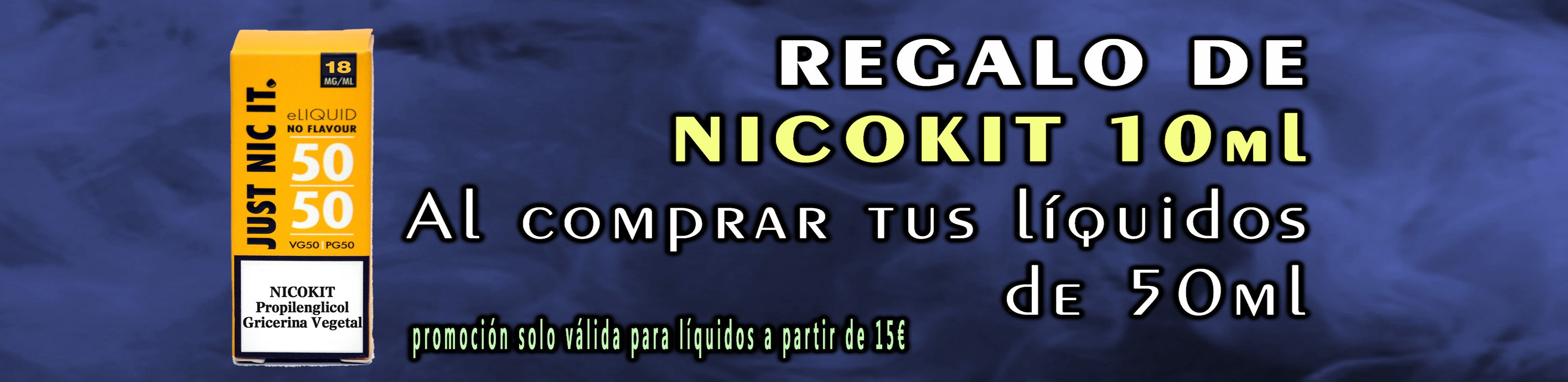 nicokit de regalo con eliquid 50 ml